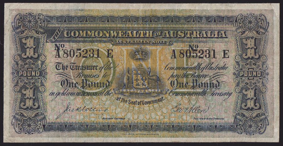 AUSTRALIA-1-Collins-Allen-rare-variety-with-Roman-1-in-right-amp-Arabic-1-in-left