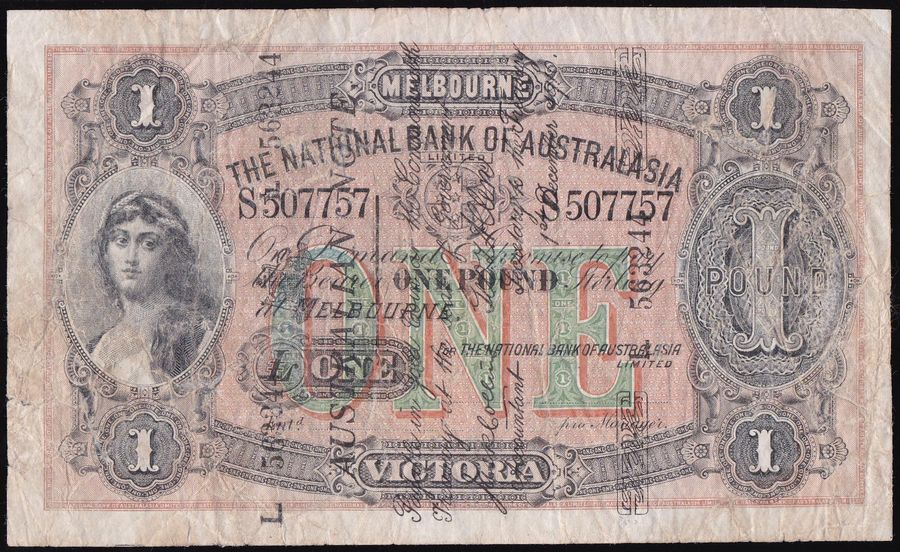 AUSTRALIA £1 Collins-Allen The National Bank of Australasia S507757 Melbourne