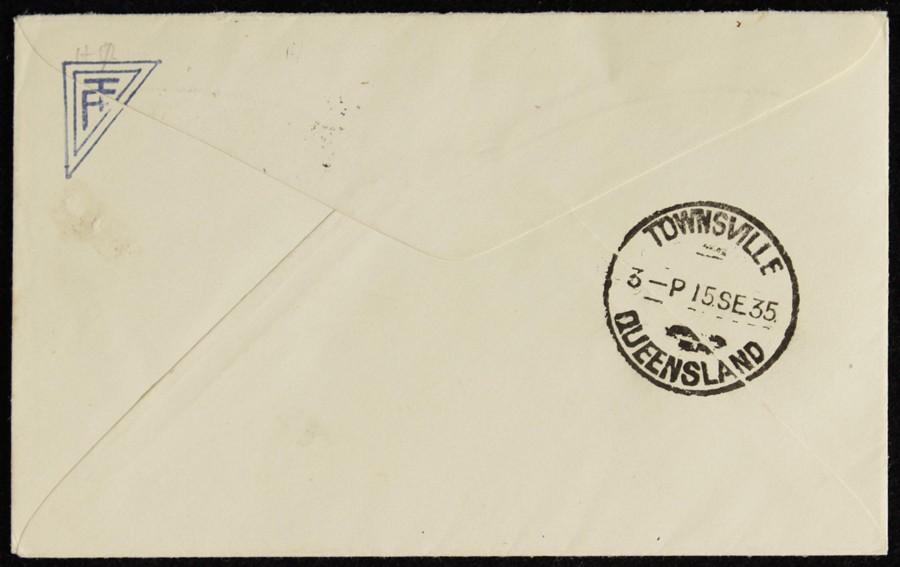 AUSTRALIA-1935-Brisbane-Townsville-First-Flight-Cover thumbnail 2