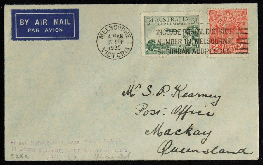 AUSTRALIA-1935-Melbourne-Mackay-First-Flight-Cover thumbnail 1