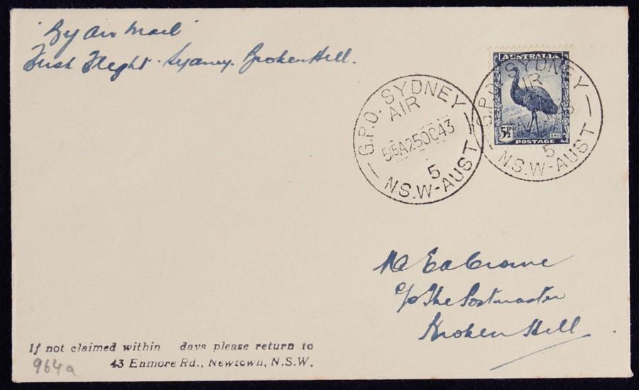 AUSTRALIA-1943-Sydney-Broken-Hill-via-Melbourne-AAMC-964a