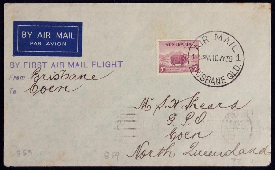 AUSTRALIA-1939-Brisbane-Coen-First-Flight-Cover-AAMC-859-var-Only-55-flown