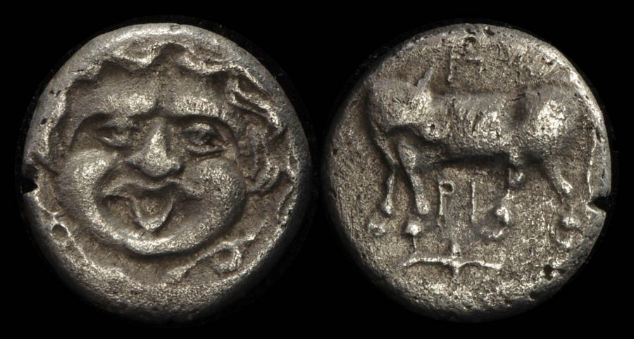 S-3922 Parion C4th Century Bc Ar Hemidrachm Orderly Ancient Greek Mysia