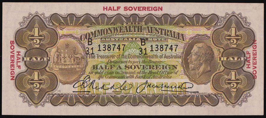 AUSTRALIA-10-Riddle-Heathershaw-R-7-UNC-McD-cat-18-000-Rare
