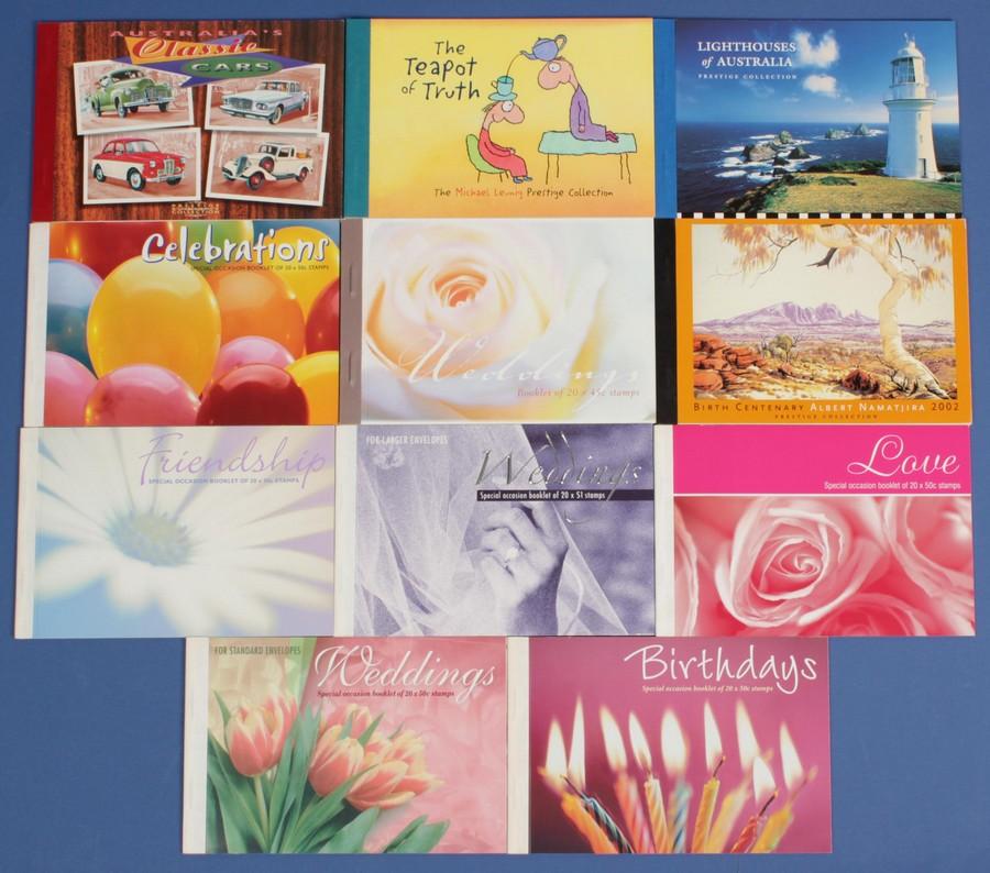 AUSTRALIA-Prestige-Booklets-1997-2003-11-MNH-Pf-cat-324