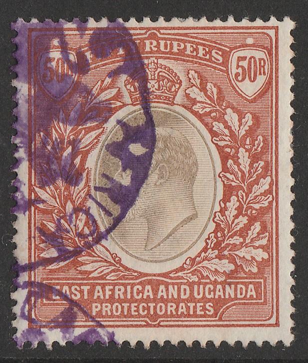 KENYA, UGANDA & TANGANYIKA : 1903 KEVII 50R, wmk crown CC top value.