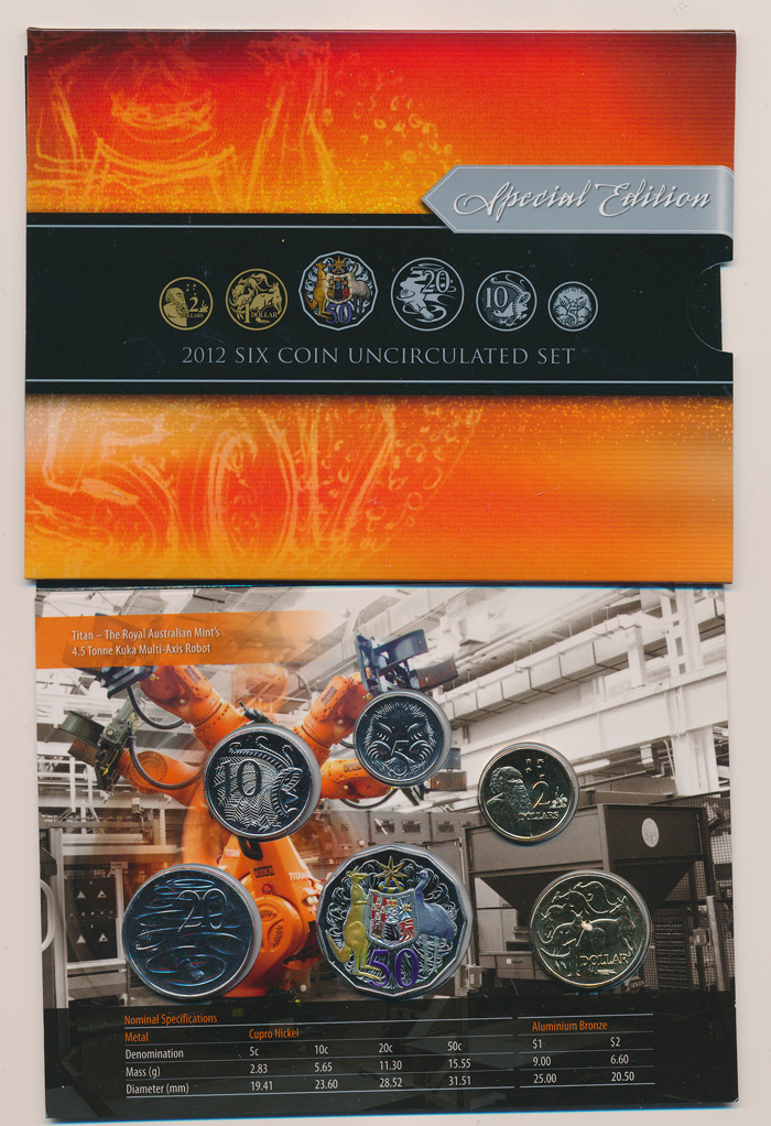 Australia-2012-UNC-set-in-RAM-packaging-w-Colored-50c-Early-SOlLD-OUT