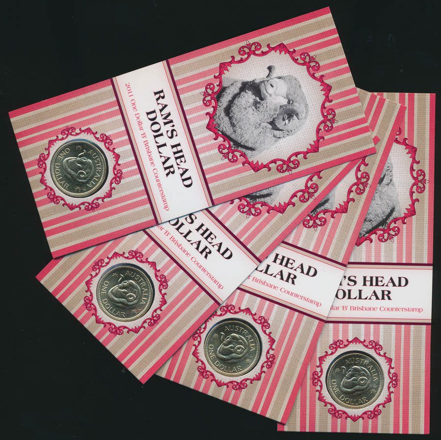 Australia-2011-1-Rams-head-issue-Brisbane-Mint-Mark-Lot-or-4-issue-price-60