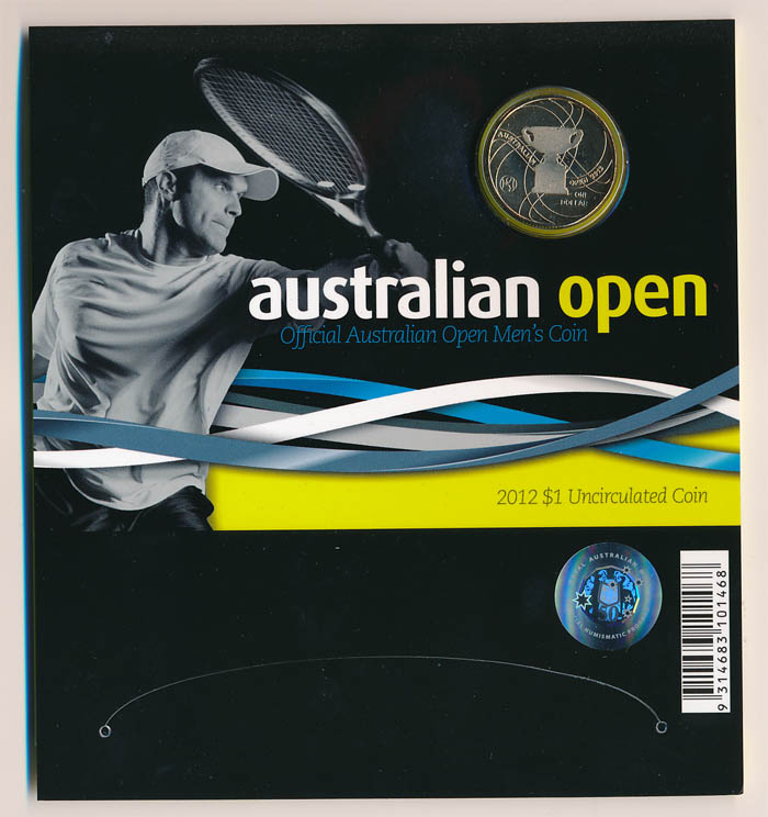 Australia-2012-1-Australian-Open-Mens-coin-in-RAM-Folder-Cat-15