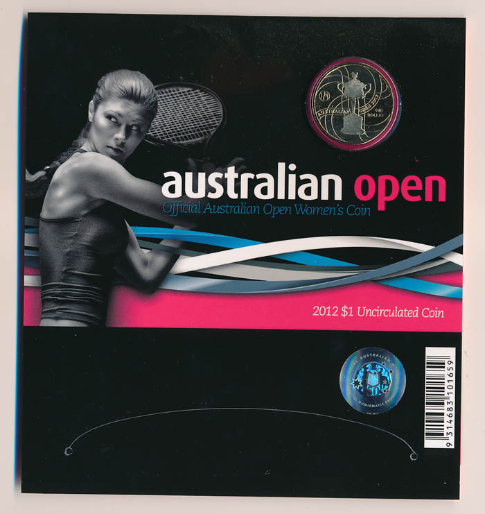 Australia-2012-1-Australian-Open-Womens-coin-in-RAM-Folder-Cat-15