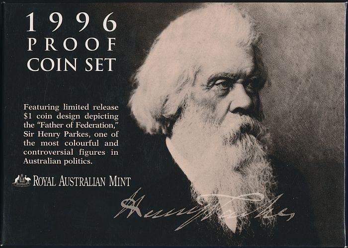Australia-1996-Proof-Set-in-RAM-packaging-Cat-135-RARE-Sir-Henry-Parkes