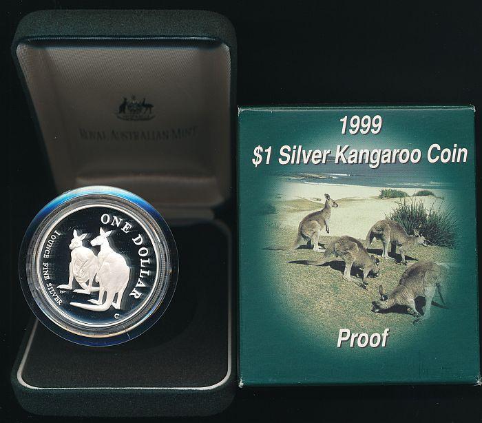 Nice coin! 1999 Silver Kangaroo 1 oz Cased PROOF
