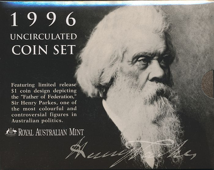 Australia-1996-UNC-set-Cat-55-in-RAM-packaging-Sir-Henry-Parkes